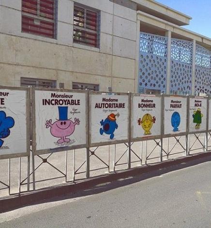 Efix, le street-artist qui remplace les affiches des élections présidentielles par des personnages de Monsieur Madame